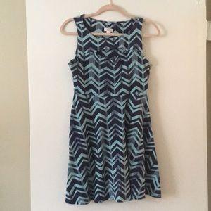 Cut Out Blue Dress
